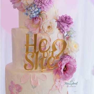 He Or She Cake topper image