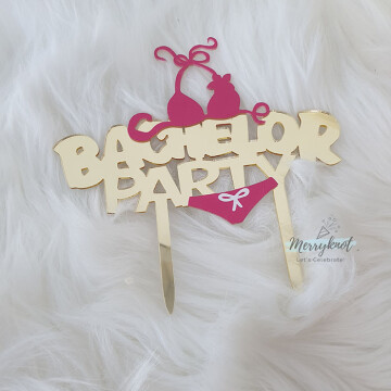 Bachelor Party Acrylic Cake topper image